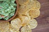 Guacamole Chips — Stock Photo