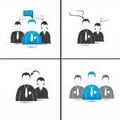 Leadership boss sharing information — Stock Vector