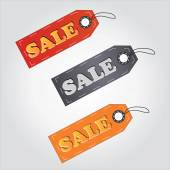 Colorful sale tag,labels for shopping and selling — ストックベクタ