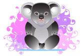 Koala impegnato nello yoga — Vettoriale Stock