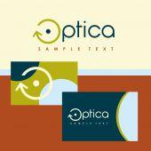 Logo en identificatie optica — Stockvector