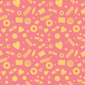 Seamless pattern with candy and cookies — Vecteur