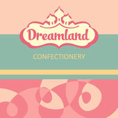 Vector logo and design elements for the confectionery. dreamland. — Stock Vector