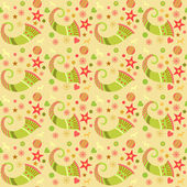 Seamless pattern christmas, wrapping paper for gifts. Edited. Cornucopia, Christmas ornaments — Vettoriale Stock