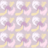 Seamless pattern with the image of feathers fluff — Stock Vector