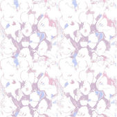 Seamless pattern with purple flowers. Pastel sketch. Bright floral pattern, light and airy — Stock Vector