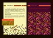 Set of templates for business documents of corporate identity. — Stockvector