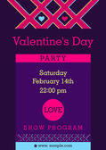 Flyer, invitation to a party Valentine Day — Stock Vector