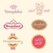 Set logos. Sweets — Stock Vector