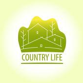Country life. Properti logo — Stock Vector
