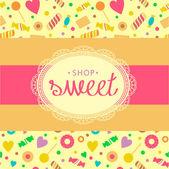 Sweet shop — Stock Vector