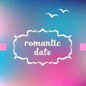 Romantic date — Stock Vector