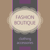Fashion boutique — Stock Vector