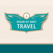 Travel logo — Stock Vector
