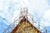 The Buddhism temple in renovation — Stock Photo