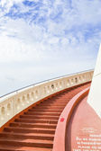 Ascent upstairs to golden mountain — Stock Photo