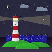 Maritime lighthouse. Day — Vector de stock