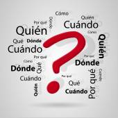 Spanish questions — Stock Vector