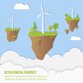 Ecological energy — Stock Vector