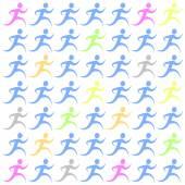 Running pattern — Vector de stock