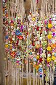 Handmade wreaths of flowers — Stock Photo