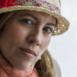 Woman with hat — Stock Photo #55883581