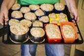 Bread dough ready to bake — ストック写真