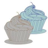 Cream cake — Stock Vector