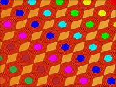 Vector background of hexagons — Stock Vector