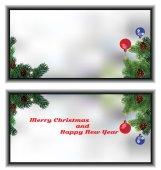 Small Christmas greeting card — Stock Vector
