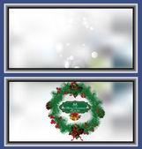 Christmas wreath card — Stockvektor