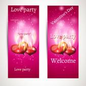 Set of banners for the party. vector — Stock Vector