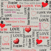 Background to the Valentine's Day in vintage style. Set 4. Vector — Stock Vector
