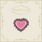 Greeting card for Valentine's Day in vintage — Stock Vector