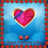 For Valentine's Day — Vector de stock