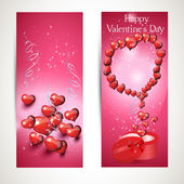 Vertical and horizontal Flyers with hearts. set 4 — Cтоковый вектор