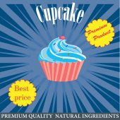 Cupcake poster design — Stockvektor