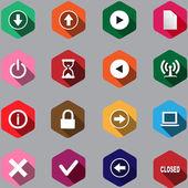 Set di icona computer — Vettoriale Stock