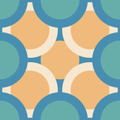 Seamless pattern of colored circles — Stock Vector