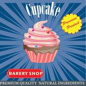 Cupcake poster design — Stock Vector
