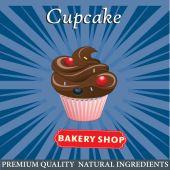 Disegno del manifesto di Cupcake — Vettoriale Stock