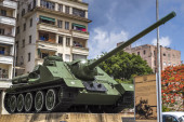 Cuban Revolution tank — Stock Photo