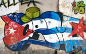 Cuban wall painting in Havana — Stock Photo