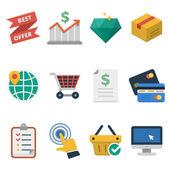 Online Commerce ikooni — ストックベクタ