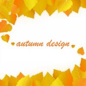 Autumn design with yellow leaves. — Stock Vector