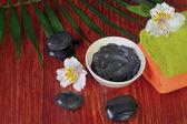 ramekin with black mud — Stock Photo