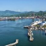 Georgia Batumi harbor Seaport Black Sea coast — Stock Photo #60975401