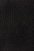 Black leather texture background — Stock Photo