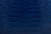 Blue embossed leather texture background — Stock Photo