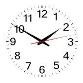 Clock simple vector — Stockvector